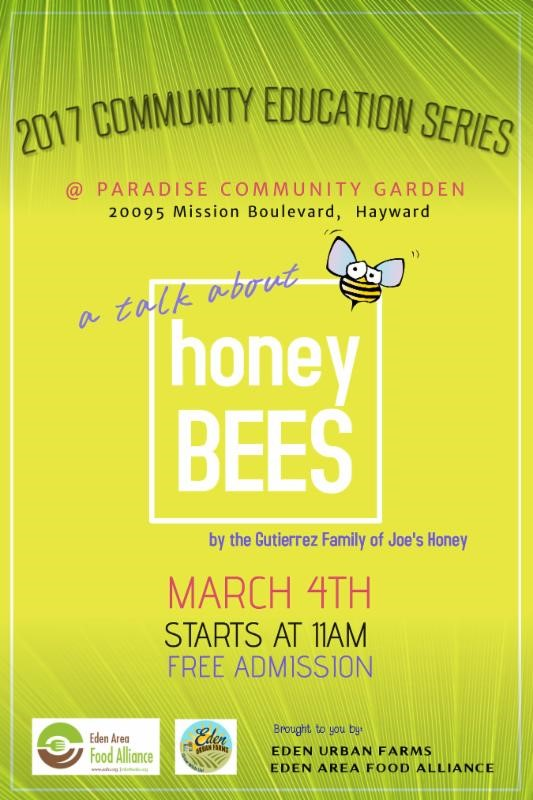 Talk - About Honey Bees - CVEA @ Paradise Community Garden | Hayward | California | United States